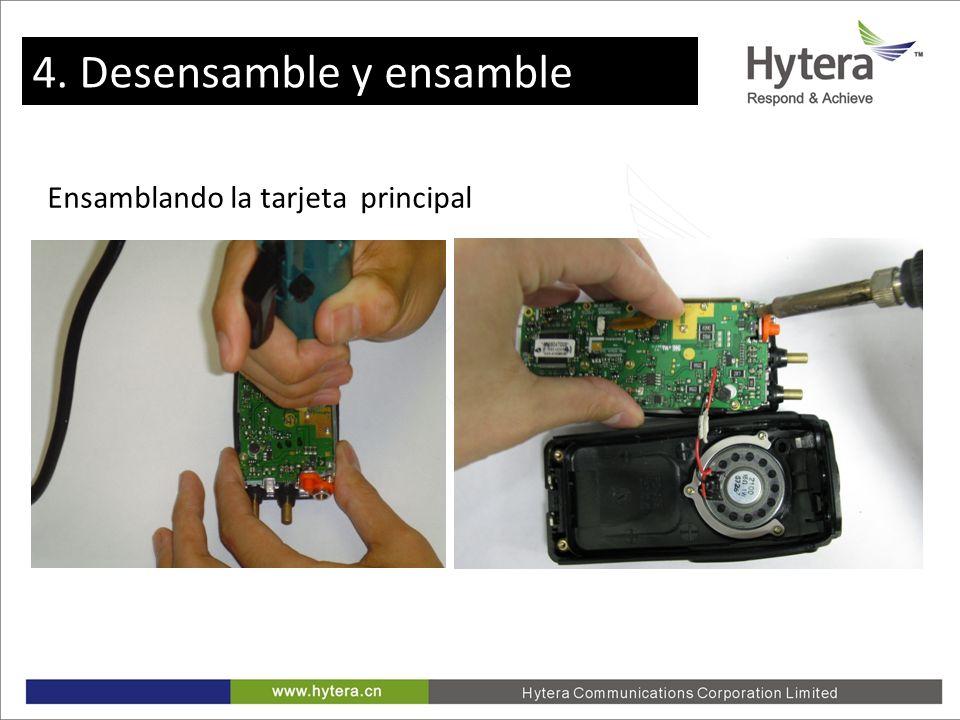 4. Disassemble and Assemble Ensamblando la tarjeta principal 4. Desensamble y ensamble