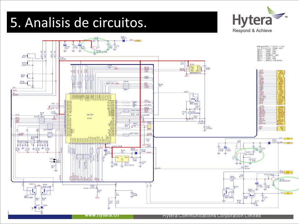 5. Circuit Analysis 5. Analisis de circuitos.