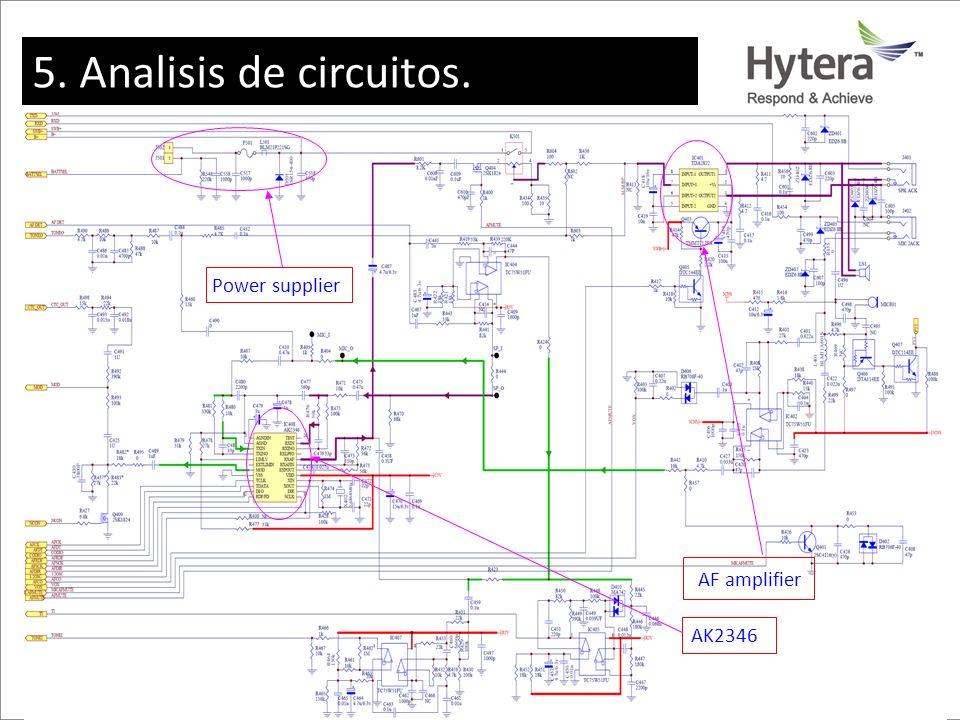 5. Circuit Analysis AK2346 AF amplifier Power supplier 5. Analisis de circuitos.
