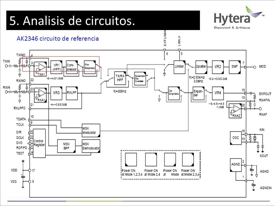 5. Circuit Analysis AK2346 circuito de referencia 5. Analisis de circuitos.