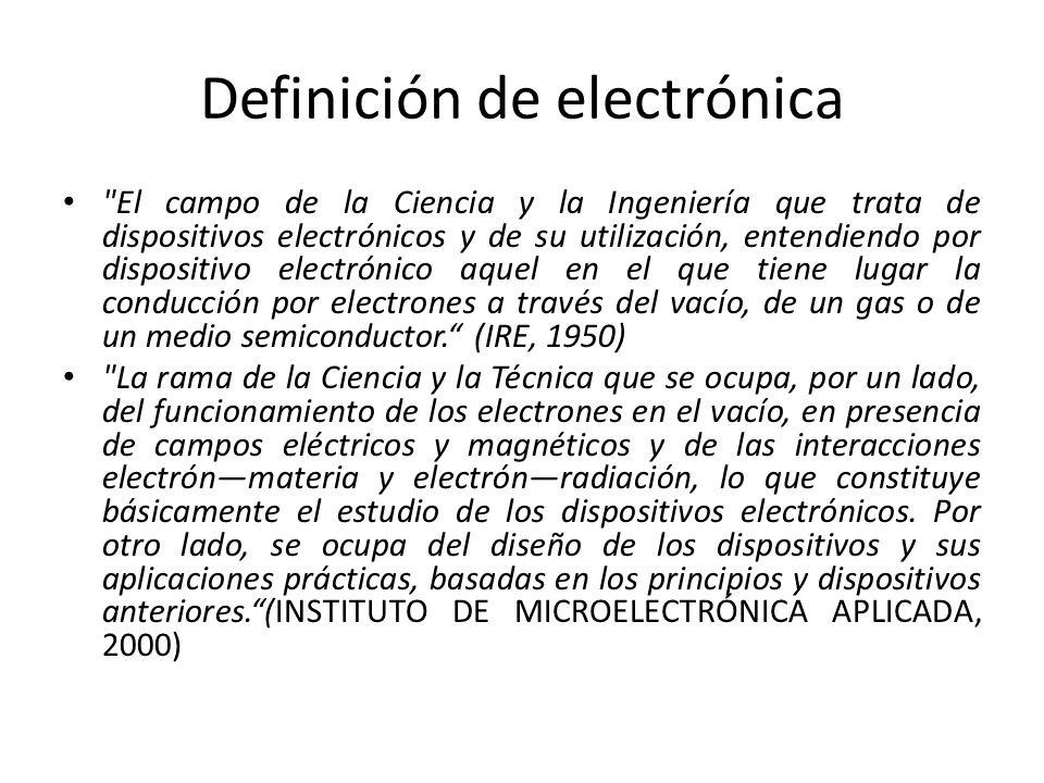 Definición de electrónica