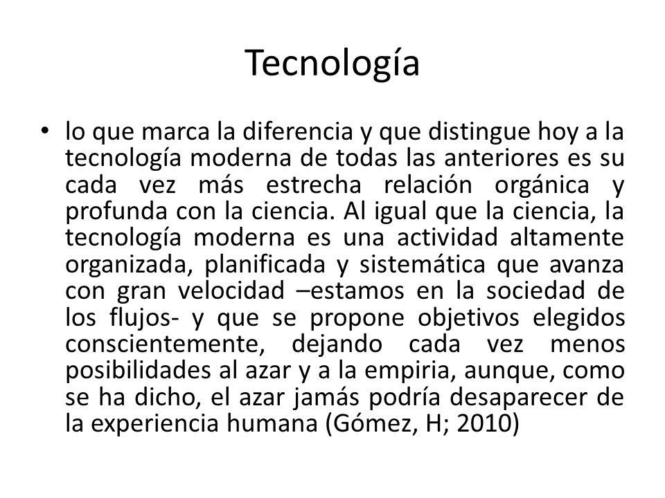 Tecnología lo que marca la diferencia y que distingue hoy a la tecnología moderna de todas las anteriores es su cada vez más estrecha relación orgánic