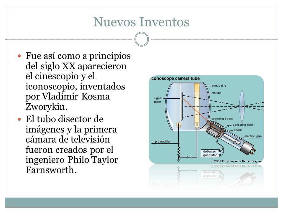 Fue así como a principios del siglo XX aparecieron el cinescopio y el iconoscopio, inventados por Vladimir Kosma Zworykin. El tubo disector de imágene