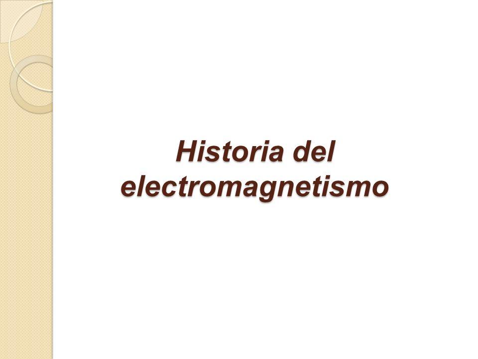 Historia del electromagnetismo