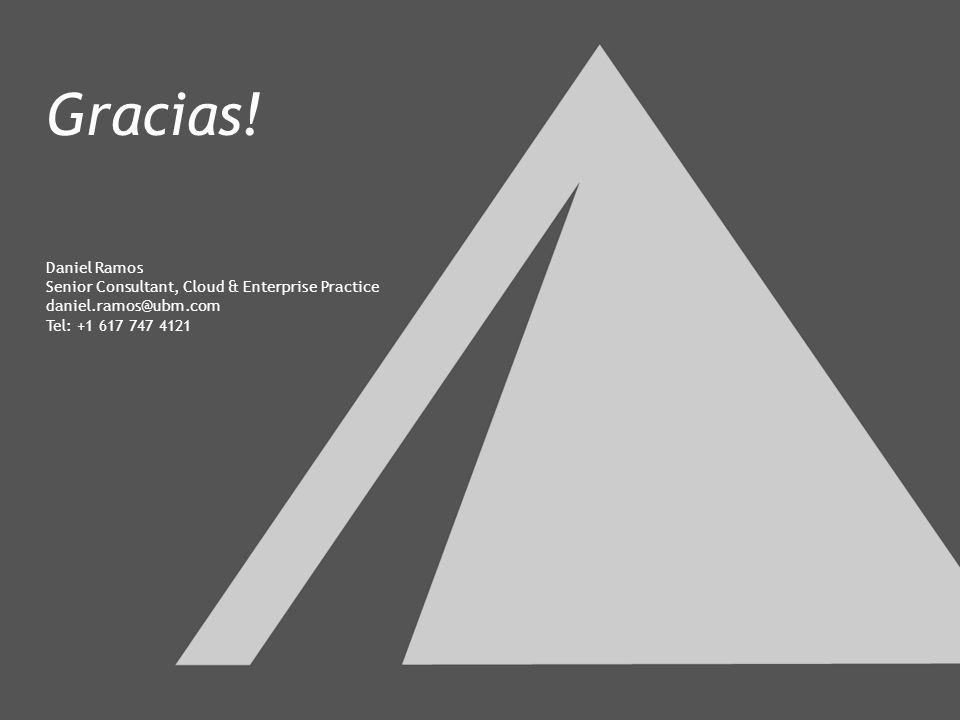 28 Gracias! Daniel Ramos Senior Consultant, Cloud & Enterprise Practice daniel.ramos@ubm.com Tel: +1 617 747 4121