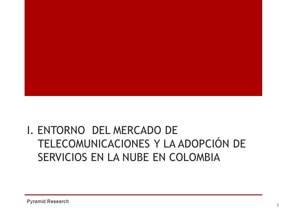I. ENTORNO DEL MERCADO DE TELECOMUNICACIONES Y LA ADOPCIÓN DE SERVICIOS EN LA NUBE EN COLOMBIA Pyramid Research 3