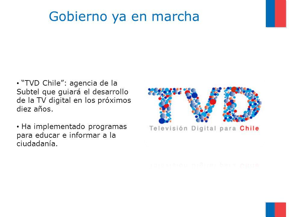 TVD Chile: agencia de la Subtel que guiará el desarrollo de la TV digital en los próximos diez años.