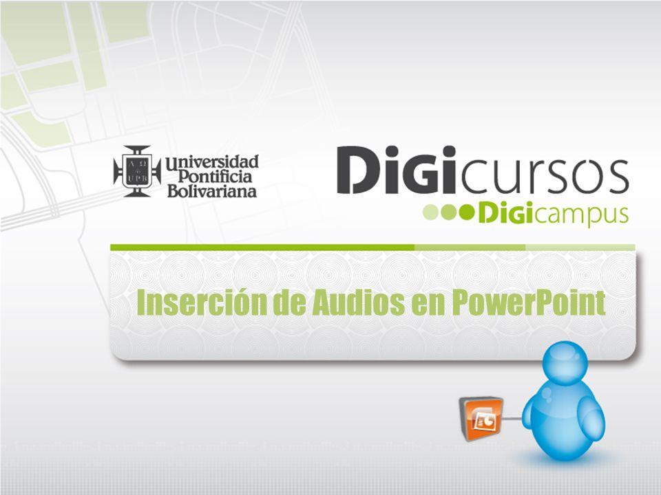 Inclusión de audio en PowerPoint De igual manera, desde la pestaña de Animaciones, podemos configurar de manera avanzada la opción de los sonidos, al hacer clic en la opciónPersonalizar animación