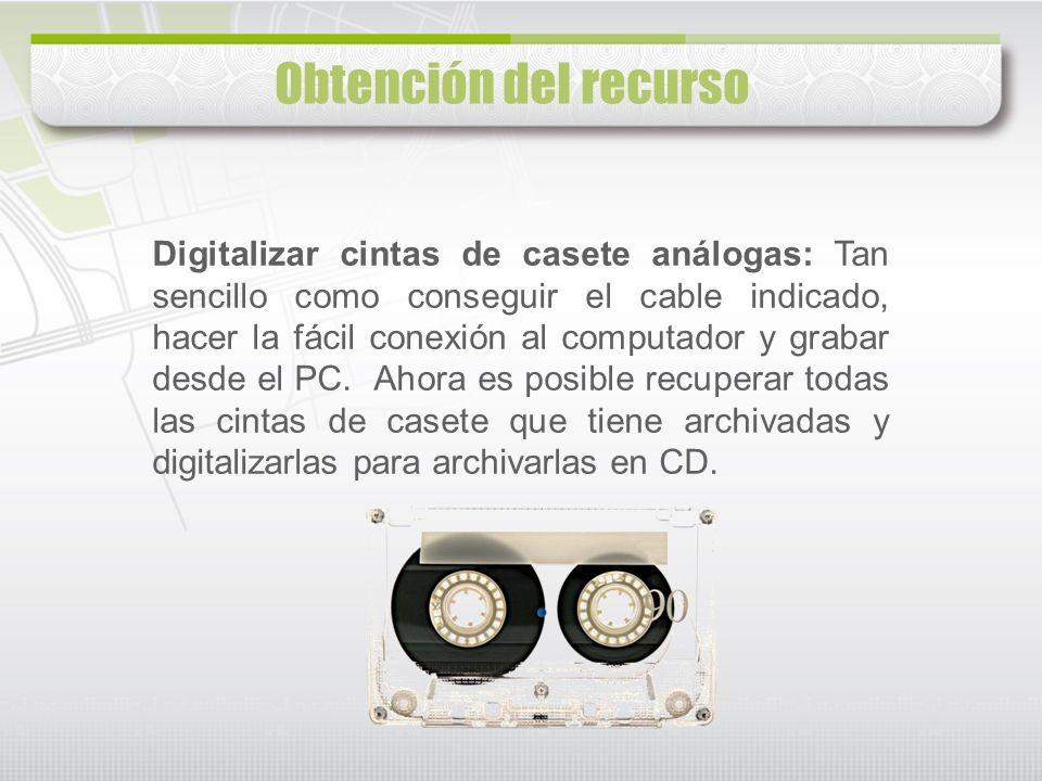 Digitalizar cintas de casete análogas: Tan sencillo como conseguir el cable indicado, hacer la fácil conexión al computador y grabar desde el PC. Ahor