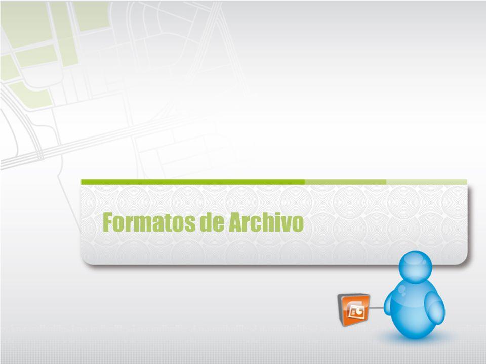 Formatos de Archivo