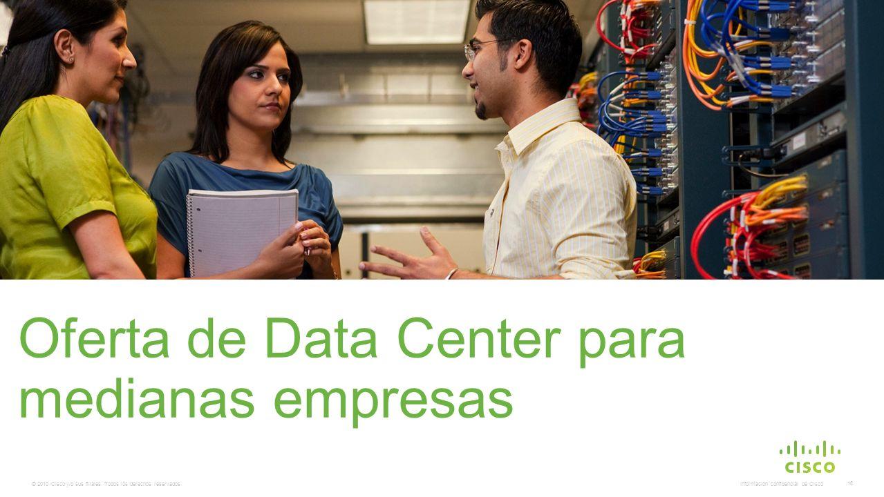 © 2010 Cisco y/o sus filiales. Todos los derechos reservados. Información confidencial de Cisco 16 Oferta de Data Center para medianas empresas