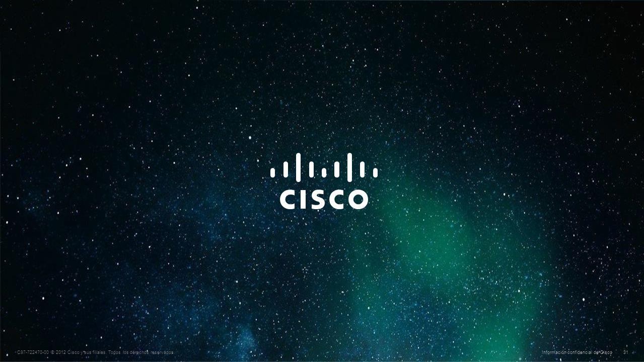© 2010 Cisco y/o sus filiales. Todos los derechos reservados. Información confidencial de Cisco 31 C97-722470-00 © 2012 Cisco y sus filiales. Todos lo