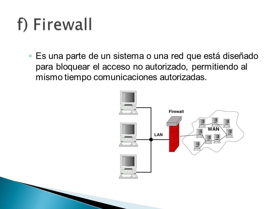 Es una parte de un sistema o una red que está diseñado para bloquear el acceso no autorizado, permitiendo al mismo tiempo comunicaciones autorizadas.