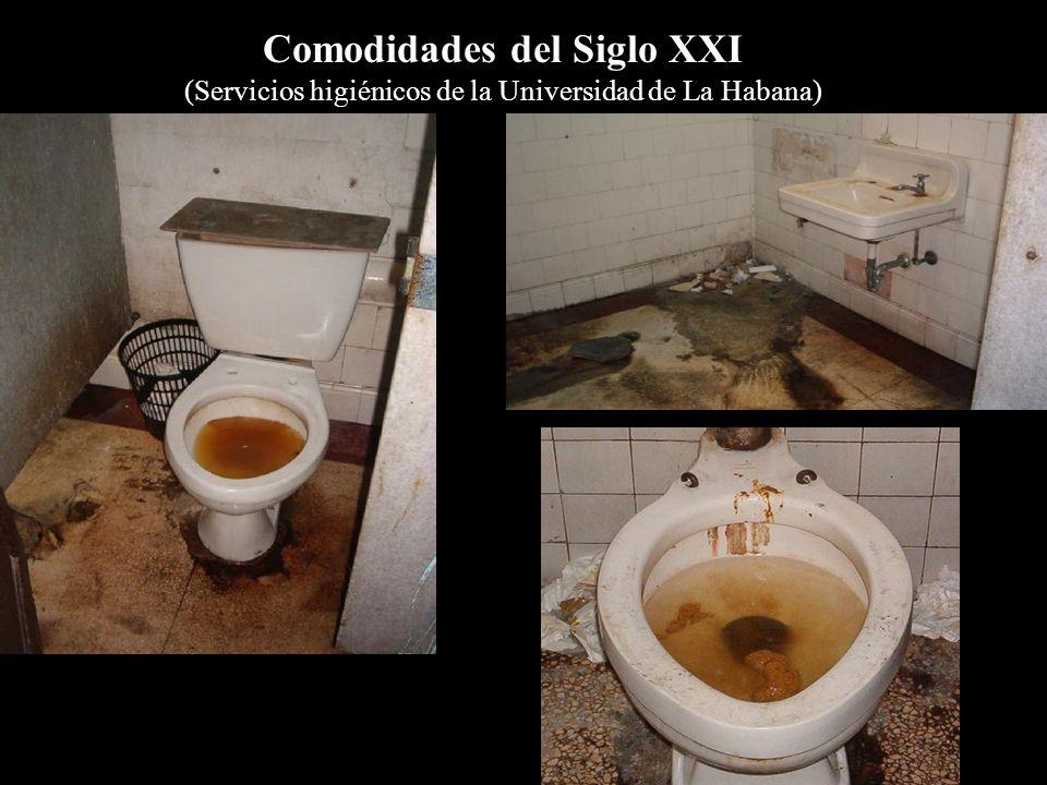 Comodidades del Siglo XXI (Servicios higiénicos de la Universidad de La Habana)