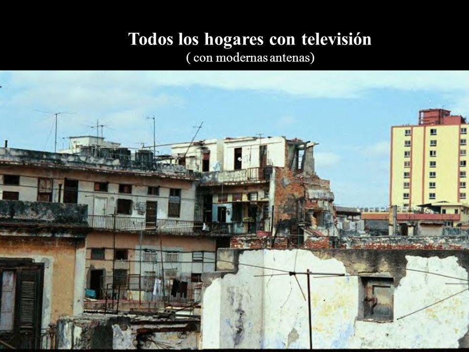Todos los hogares con televisión ( con modernas antenas)