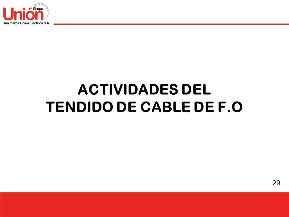 29 ACTIVIDADES DEL TENDIDO DE CABLE DE F.O