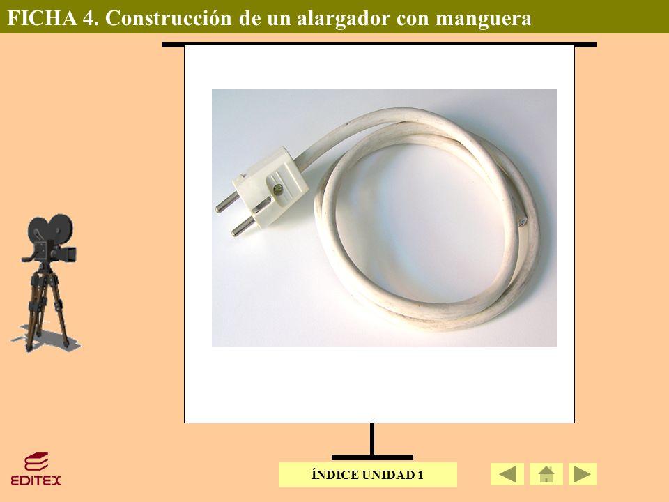 FICHA 4. Construcción de un alargador con manguera ÍNDICE UNIDAD 1