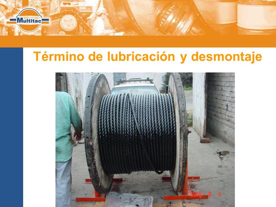 Término de lubricación y desmontaje