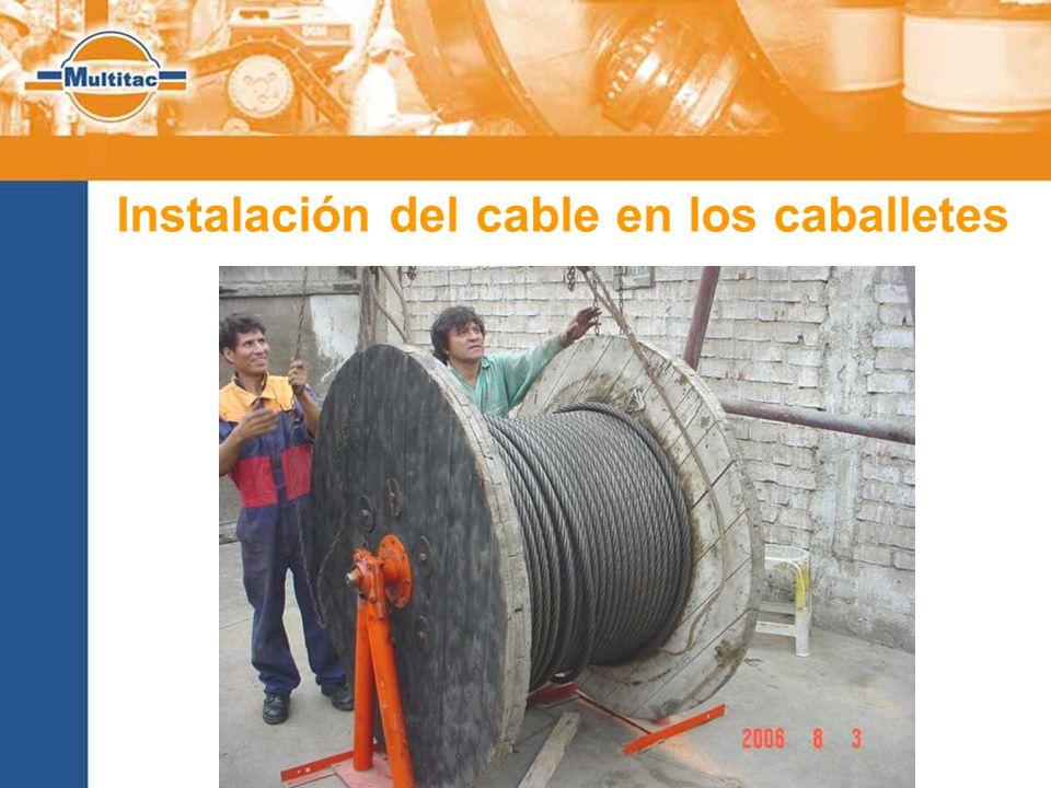 Instalación del cable en los caballetes