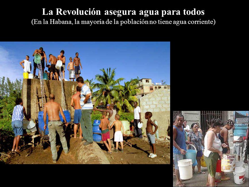 La Revolución asegura agua para todos (En la Habana, la mayoría de la población no tiene agua corriente)