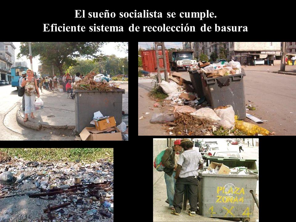 El sueño socialista se cumple. Eficiente sistema de recolección de basura