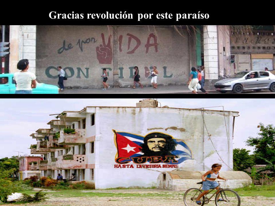 Gracias revolución por este paraíso