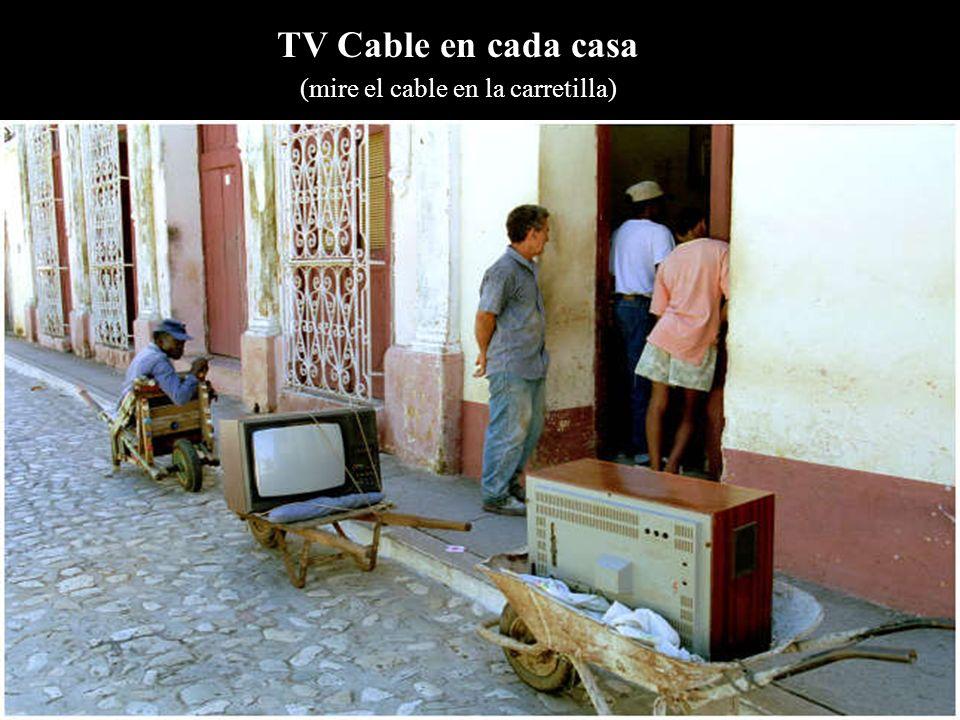 TV Cable en cada casa (mire el cable en la carretilla)
