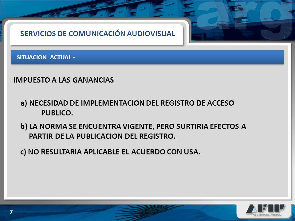 SITUACION ACTUAL - 7 a) NECESIDAD DE IMPLEMENTACION DEL REGISTRO DE ACCESO PUBLICO.
