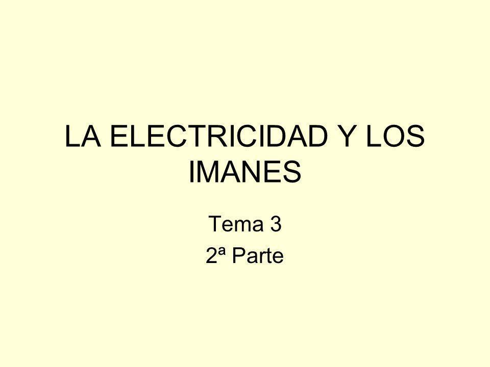 LA ELECTRICIDAD Y LOS IMANES Tema 3 2ª Parte