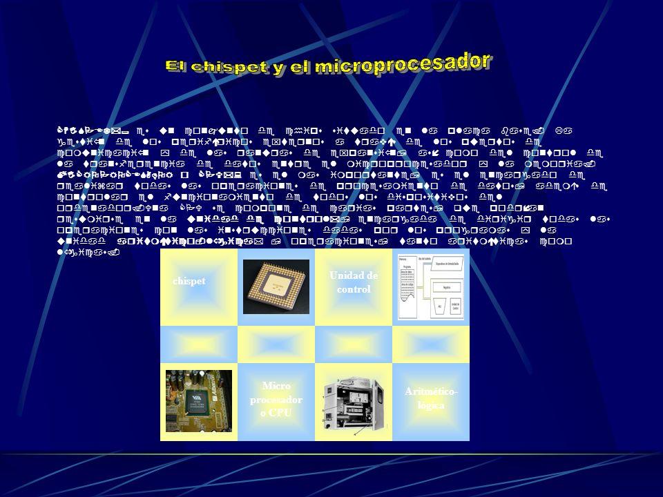 CHISPET*; es un conjunto de chips situado en la placa base. La gestión de los periféricos externos a través de los puertos de comunicación y de las ra