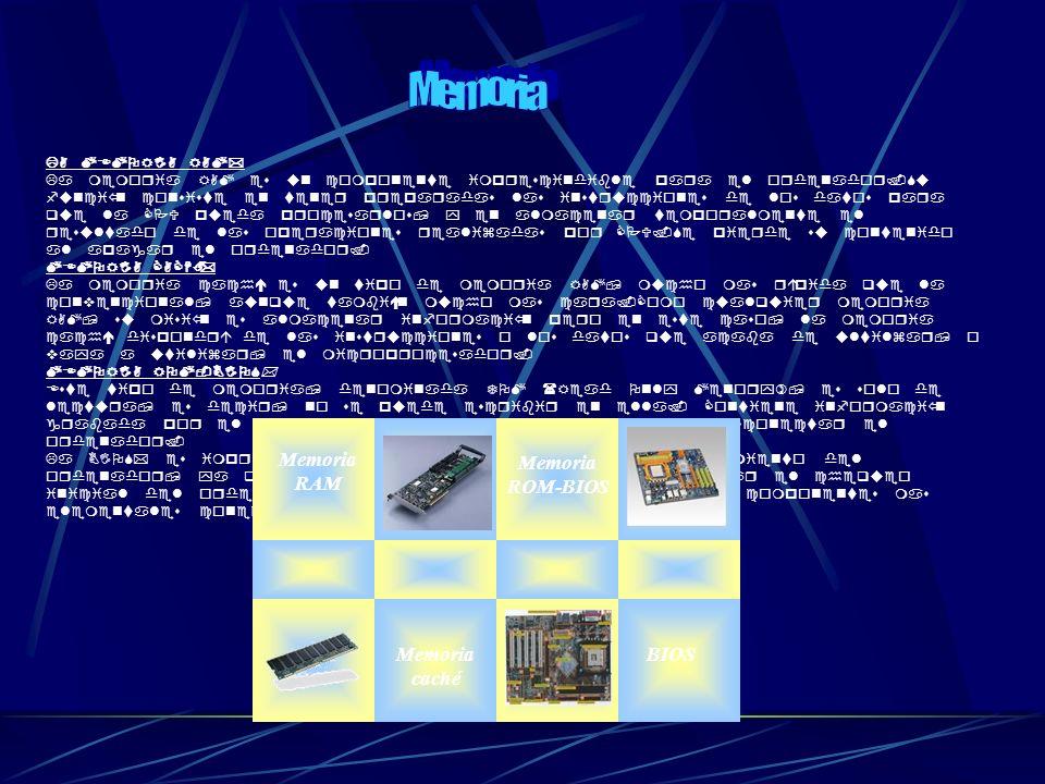 LA MEMORIA RAM* La memoria RAM es un componente imprescindible para el ordenador.Su función consiste en tener preparadas las instrucciones de los dato