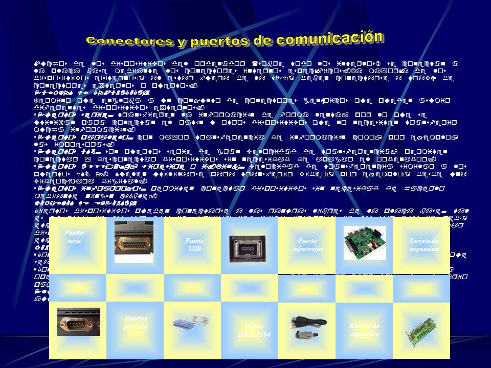 Muchos de los dispositivos del ordenador (sobre todo los internos) se conectan a la placa base mediante los conectores internos específicos.La mayoría