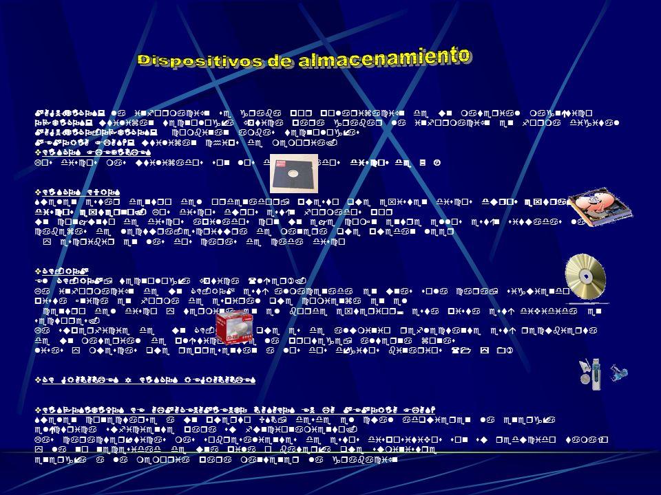 MAGNÉTICOS: la información se graba por polarización de un material magnético OPTICOS: utilizan tecnología óptica para grabar la información en forma