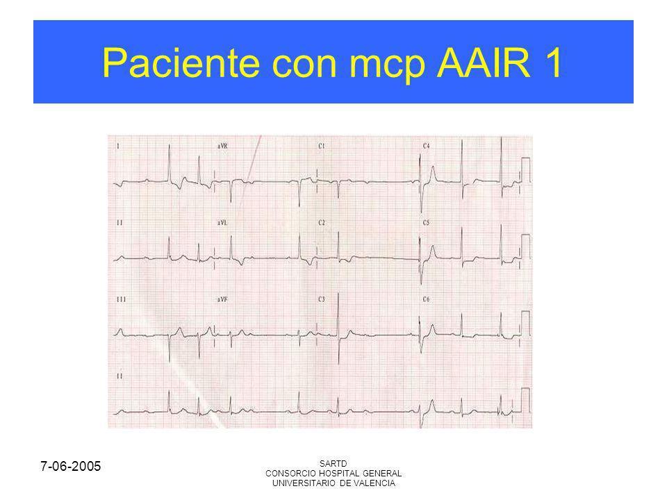 7-06-2005 SARTD CONSORCIO HOSPITAL GENERAL UNIVERSITARIO DE VALENCIA Paciente con mcp AAIR 1