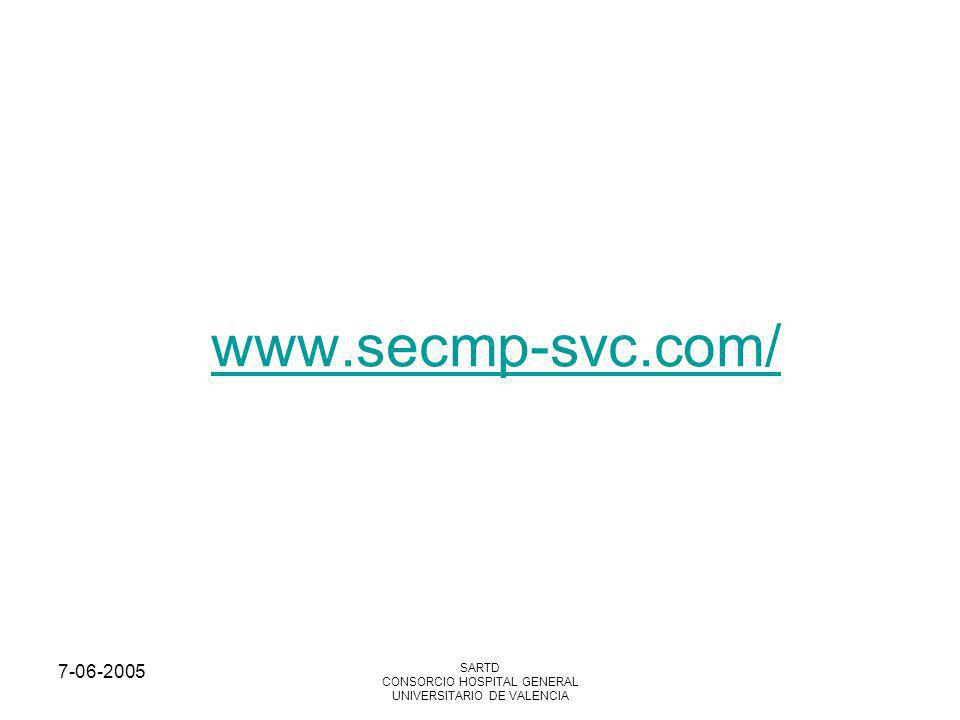 7-06-2005 SARTD CONSORCIO HOSPITAL GENERAL UNIVERSITARIO DE VALENCIA MCP y TENS TENS método utilizado en TD Impulsos eléctricos a nivel cutáneo de frecuencia de 20±110 Hz in rectangular pulsos de 1±200 V a 0±60 mA y de duración de 20 ms Solo detección ambulatoria y asintomatica de inhibición del mcp.
