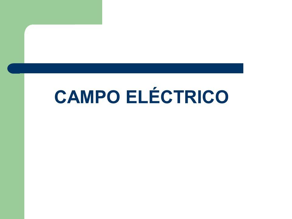DEFINICIÓN DE CAMPO ELÉCTRICO Campo eléctrico, es el espacio que rodea a objetos cargados eléctricamente.
