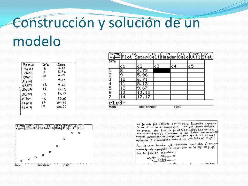 Construcción y solución de un modelo