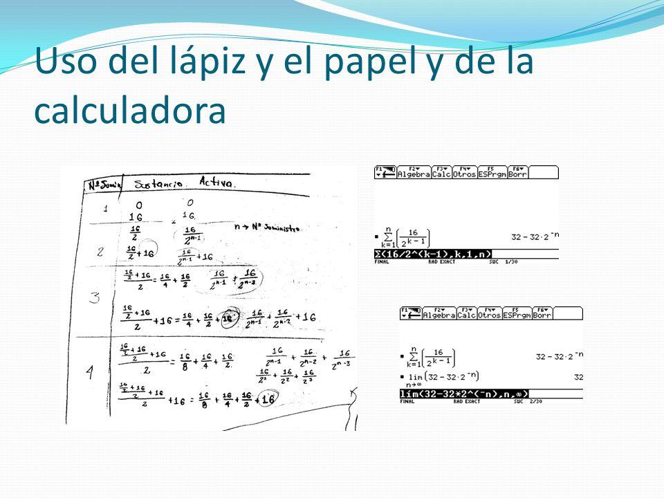 Uso del lápiz y el papel y de la calculadora