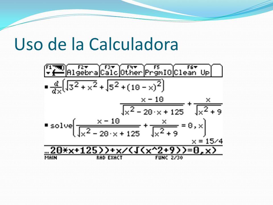 Uso de la Calculadora