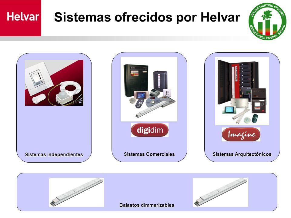 Sistemas ofrecidos por Helvar Sistemas Arquitectónicos Sistemas Comerciales Sistemas independientes Balastos dimmerizables