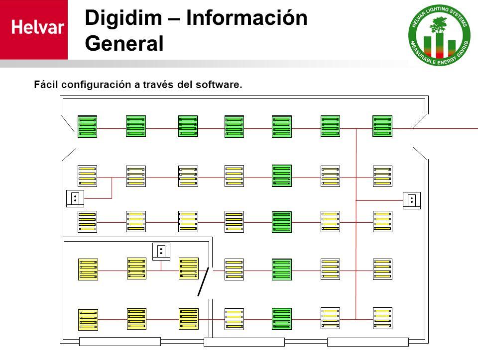 Digidim – Información General Fácil configuración a través del software.