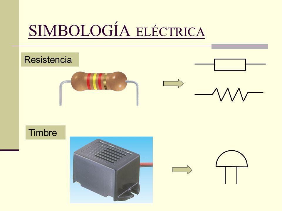 SIMBOLOGÍA ELÉCTRICA Resistencia Timbre