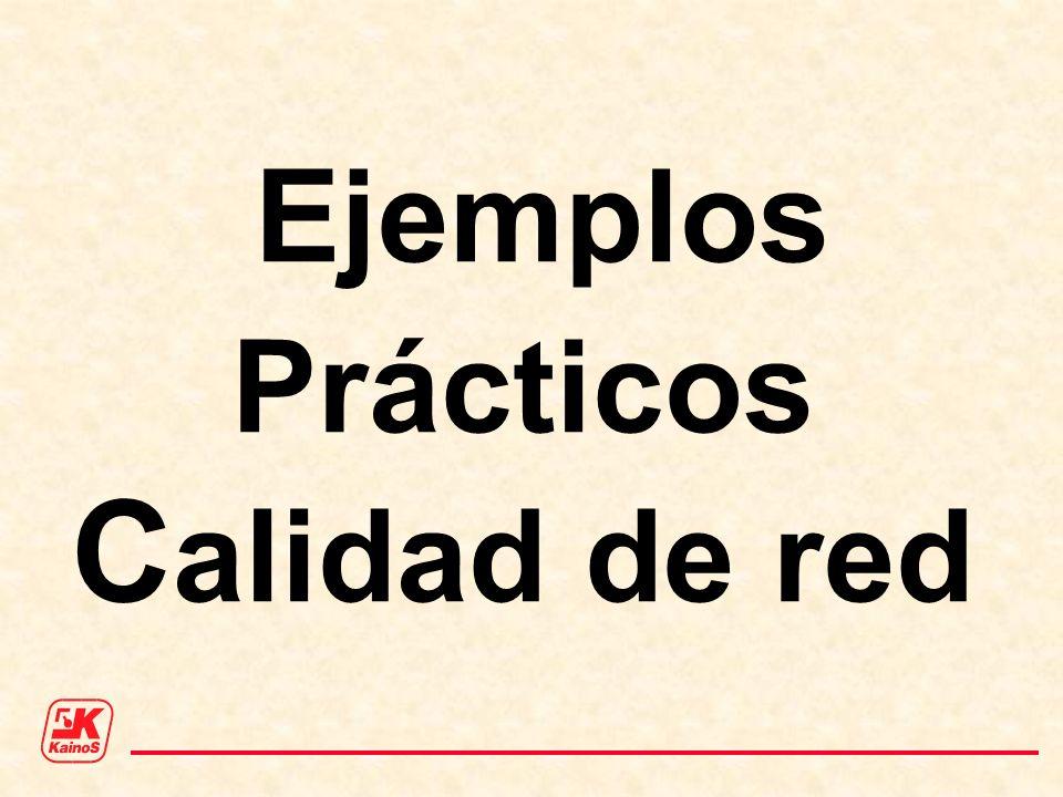Ejemplos Prácticos C alidad de red