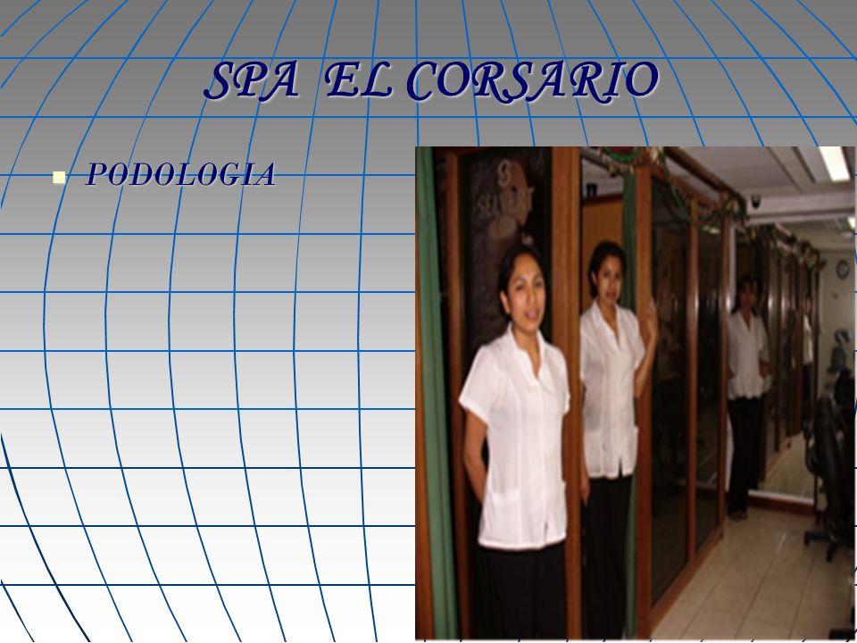 SPA EL CORSARIO Precios especiales en paquetes Paquete Nº 1 S/ 95.00 Paquete Nº 1 S/ 95.00 Corte de cabello S/12.00 Limpieza de cutis64.00 Manicure12.00 Podología Simple26.50 Precio normalS/114.50 Paquete Nº 2 S/ 45.00 Paquete Nº 2 S/ 45.00 Corte de cabello S/12.00 Tratamiento Capilar 37.50 Precio normalS/49.00 Paquete Nº 3 S/ 85.00 Paquete Nº 3 S/ 85.00 Limpieza de cutisS/64.00 Manicure12.00 Podología Simple26.50 Precio normalS/102.50 Paquete Nº 4 S/ 60.00 ManicureS/12.00 Podología Simple26.50 Reflexologìa 30`28.00 Precio normalS/66.50 Paquete Nº 5 S/ 45.00 Podología SimpleS/26.50 Reflexologìa 30`28.00 Precio normalS/54.50 Paquete Nº 6 S/ 70.00 Paquete Nº 6 S/ 70.00 Podología SimpleS/26.50 Reflexologìa 60`50.00 Precio normalS/76.50 Precio normalS/76.50