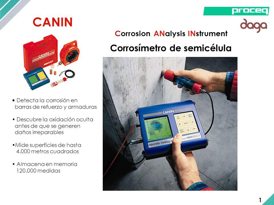 CANIN Corrosímetro de semicélula Detecta la corrosión en barras de refuerzo y armaduras Descubre la oxidación oculta antes de que se generen daños irr