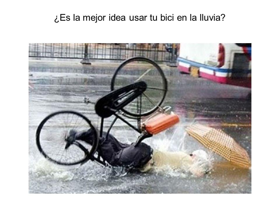 ¿Es la mejor idea usar tu bici en la lluvia?