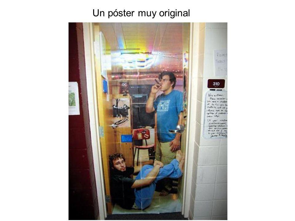 Un póster muy original