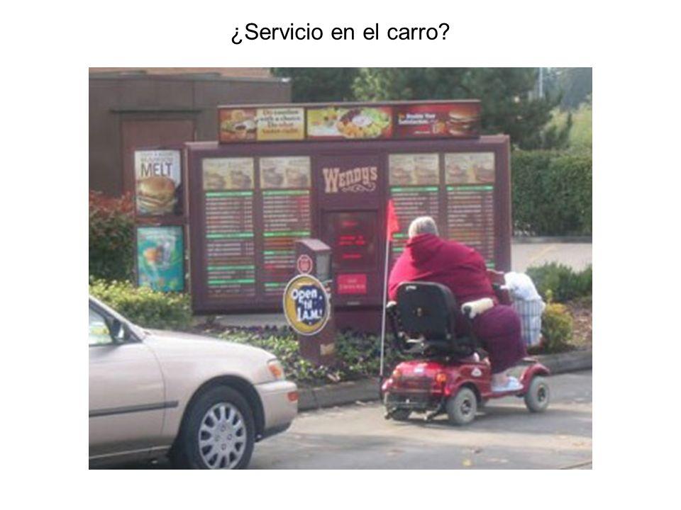 ¿Servicio en el carro?