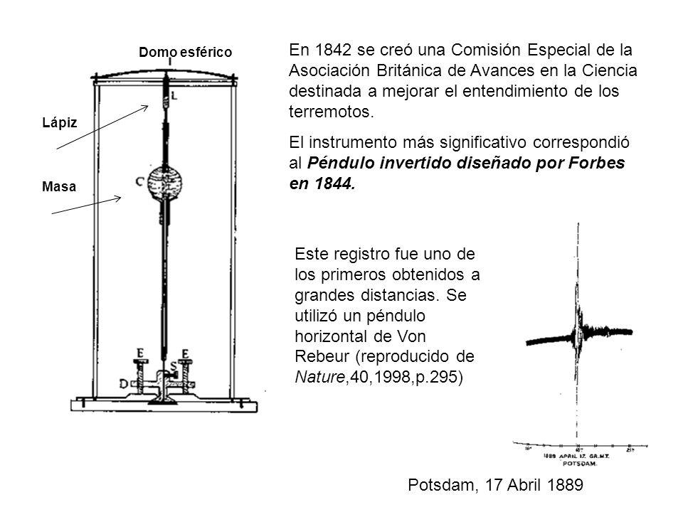 Domo esférico Masa Lápiz En 1842 se creó una Comisión Especial de la Asociación Británica de Avances en la Ciencia destinada a mejorar el entendimient