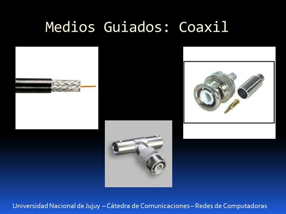 Medios Guiados Universidad Nacional de Jujuy – Cátedra de Comunicaciones – Redes de Computadoras Fibra Óptica: principio de funcionamiento La F.O.